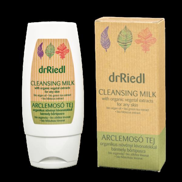 drRiedl arclemosó tej organikus növényi kivonatokkal 100ml